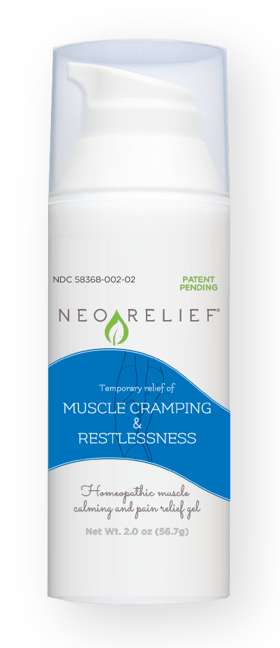 NeoRelief Muscle Cramping & Restlessness alternative pain relief gel bottle front