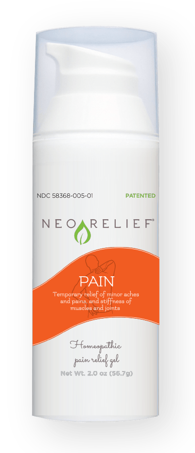 NeoRelief Pain homeopathic alternative relief gel bottle front