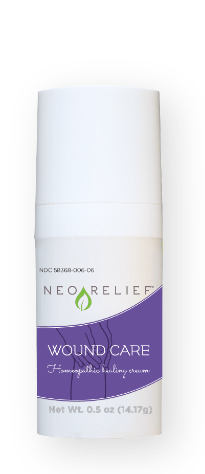 NeoRelief Wound Care natural pain relief cream bottle front
