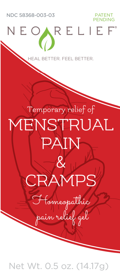 NeoRelief Menstrual Pain & Cramps alternative pain relief box front