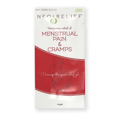 NeoRelief for Menstrual Pain and Cramps Sample Pack