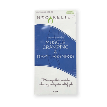 NeoRelief Muscle Cramping and Restlessness natural pain relief gel sample pack front